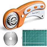 BONROB 45mm Rotary Cutter with Rotary Cutter Blades 45mm,Self Healing Cutting Mat 3045CM Double Sided Professional Rotary Mat 3-Ply for Sewing Fabric Leather Quilting & More BO004