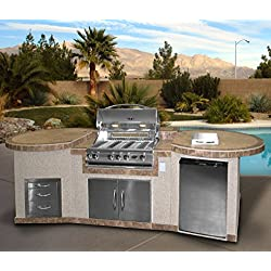 "3 Piece Island with 32"" Natural Gas BBQ Grill"