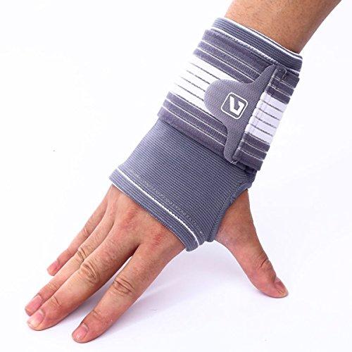 1 Pair Palm Wrist Hand Brace, Liveup SPORTS Arthritis Wrist Support Brace with Adjustable Straps Elastic Bandage Wraps for Tennis Gym Working, L/XL