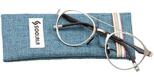 SOOLALA Retro Designer Round Full Rimmed Eyeglasses Frame Cool Reading Glasses, +1.25, - Glasses Mens Designer Online