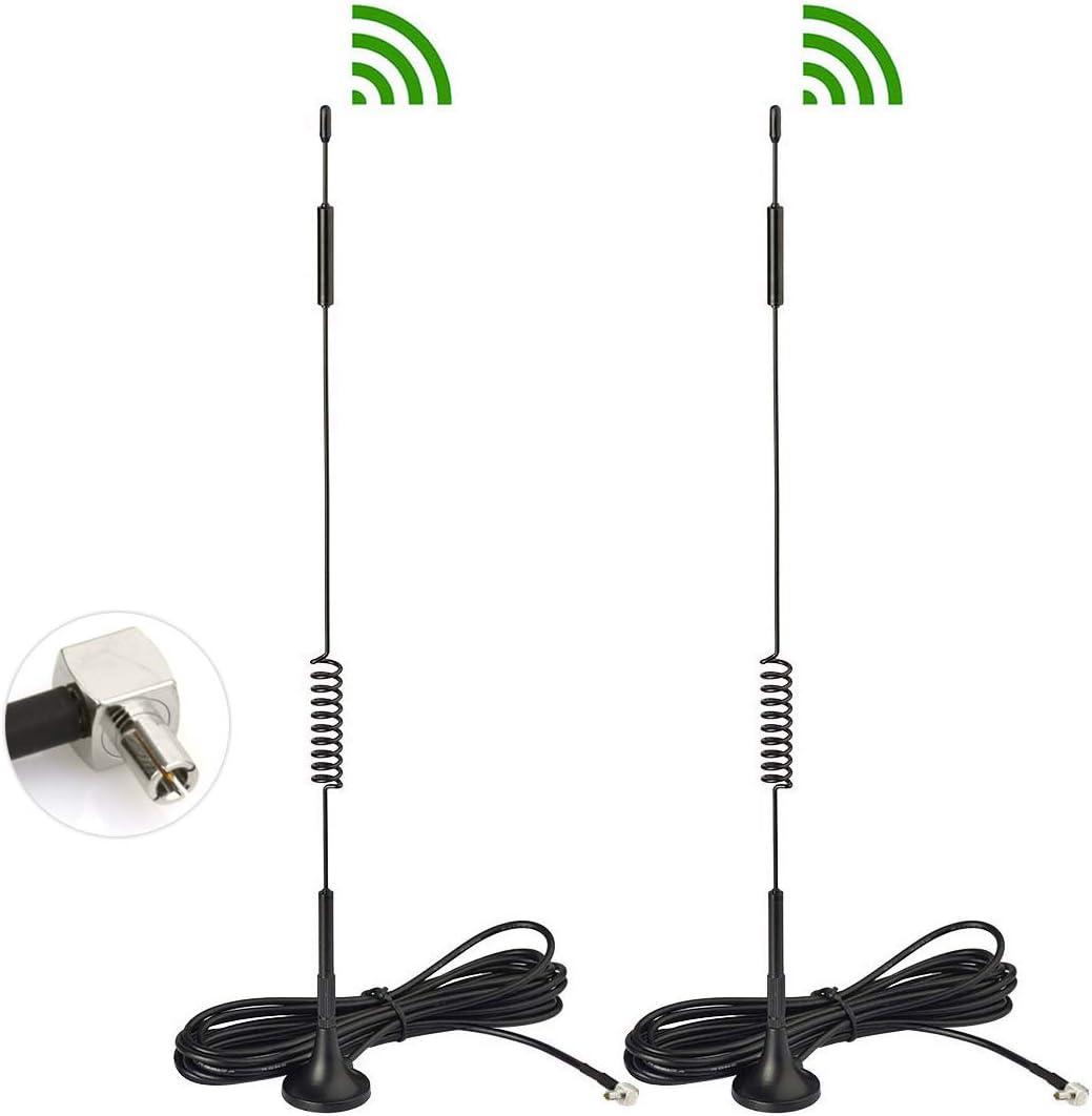 Bingfu 4G LTE 7dBi Magnetic Base TS9 Antenna 2-Pack for MiFi Mobile Hotspot Router USB Modem Dongle Verizon Jetpack 8800L 7730L AC791L 6620L AT&T Netgear LB1120 LB1121 LB2120 Nighthawk M1 MR1100 770S