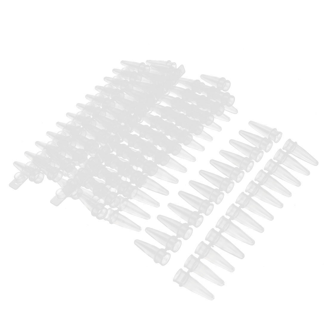Thin Wall PCR 12-tube Strips w Caps for Agarose Gene Experiment 10 Pcs uxcell US-SA-AJD-57236