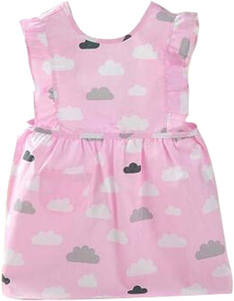 Precioso bebé delantales impermeables Vestidos Pintura algodón Ropa: Amazon.es: Bebé