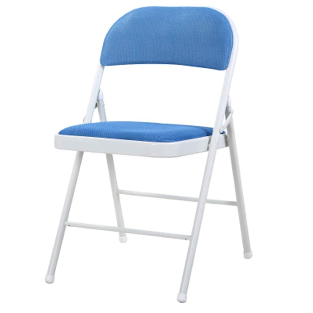 簡単な折りたたみ椅子オフィスチェア家庭用背もたれチェア寮レジャーコンピュータチェアダイニングチェア会議チェアトレーニングチェア (色 : E) B07PHSW9LZ E