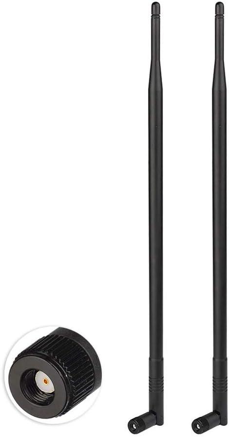 Eightwood Antena WiFi Antena 2.4G Antena inalámbrica 12dBi Tilt-and-Roll RP SMA Antena inalámbrica 2 Piezas para Tarjeta WiFi Tarjetas inalámbricas ...