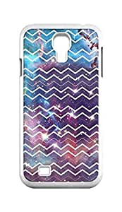 Cool Painting galaxy space universe and Chevron pattern Snap-on Hard Back Case Cover Shell for Samsung GALAXY S4 I9500 I9502 I9508 I959 -763
