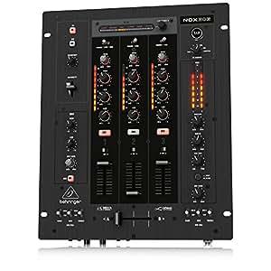 Behringer Pro Mixer NOX303 premium de 3 canales para DJ con Infinium crossfader VCA sin contacto, FX-beat y sincronizables interfaz de audio USB