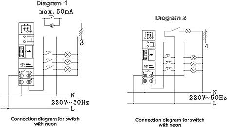 SINOTIMER TM-ST7 220V 7 Minutos Temporizador mecánico 18mm Módulo único Temporizador de escalera de carril DIN Instrumentos de interruptor de tiempo Kaemma(Color:White): Amazon.es: Bricolaje y herramientas