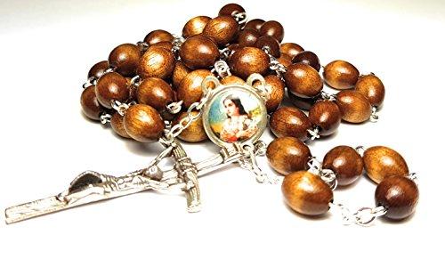 - Relic Rosary 3rd Class of Saint Maria Goretti Patron of Victims of Rape, Crime Victims, Teenage Girls, Modern Youth Santa María Goretti (Brown)