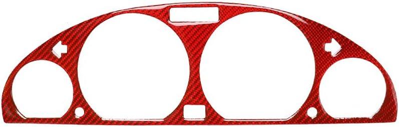 Red Carbon Fiber Interior Decoration Decal Frame Cover Trim For BMW E46 315 318 320 325 330 M3 1998-2005 (Dashboard Instrument Frame)