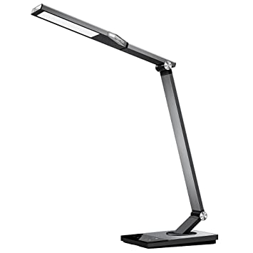 Led desk lamp taotronics stylish metal table lamps office light with usb charging port