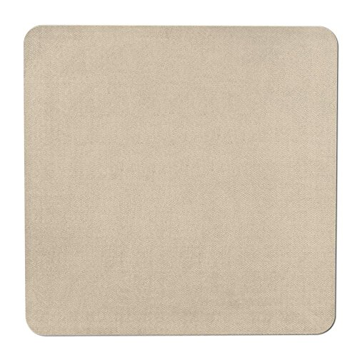 (House, Home and More Skid-Resistant Carpet Indoor Area Rug Floor Mat - Ivory Cream - 3 Feet X 3 Feet)
