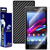 ArmorSuit MilitaryShield - Sony Xperia Z1 Screen Protector + Black Carbon Fiber Full Body Skin Protector / Front Anti-Bubble Ultra HD - Extreme Clarity & Touch Responsive Shield with Lifetime Free Replacements - Retail Packaging