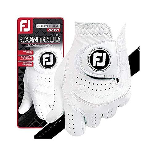 FootJoy New Contour FLX Flex Men's Premium Golf Glove w/CabrettaSof Leather #1 Glove in Golf (Large, Worn on Left Hand)