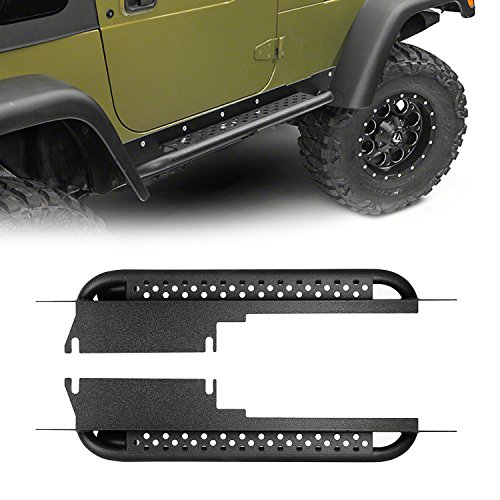 u-Box Jeep TJ Side Steps Running Boards Nerf Bars Rocker Guard Sliders (Jeep Wrangler TJ 1997-2006)