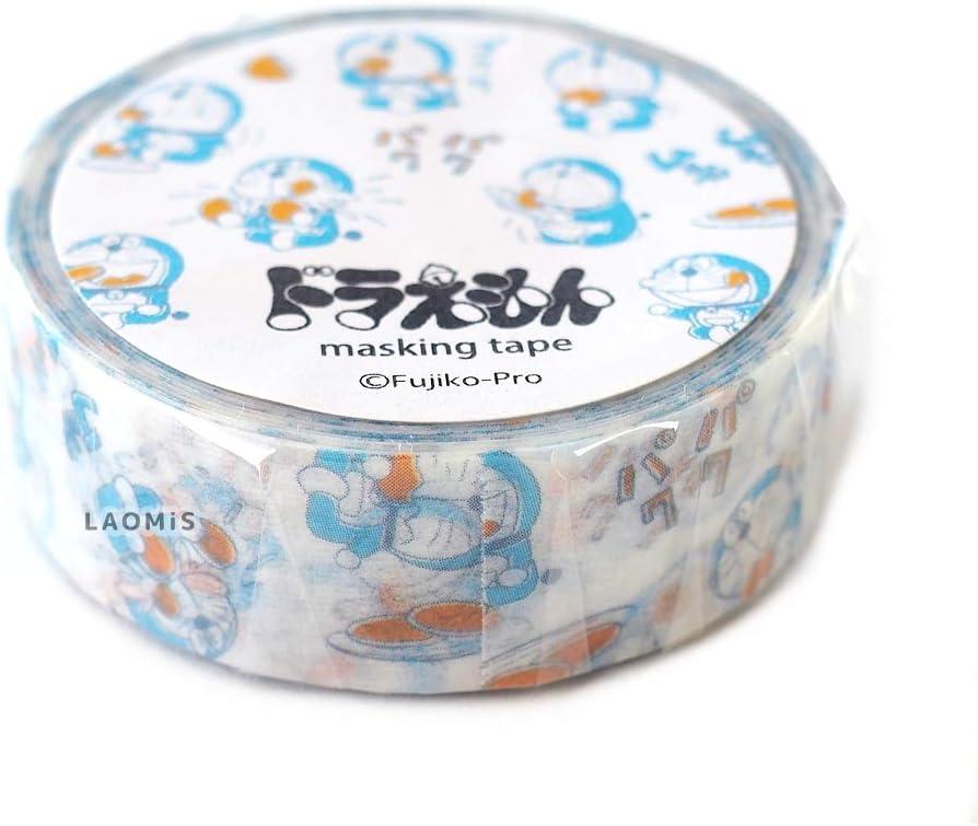 Green Flash Japanese Washi Masking Paper Tape/Doraemon (Food [ DG-041 ])