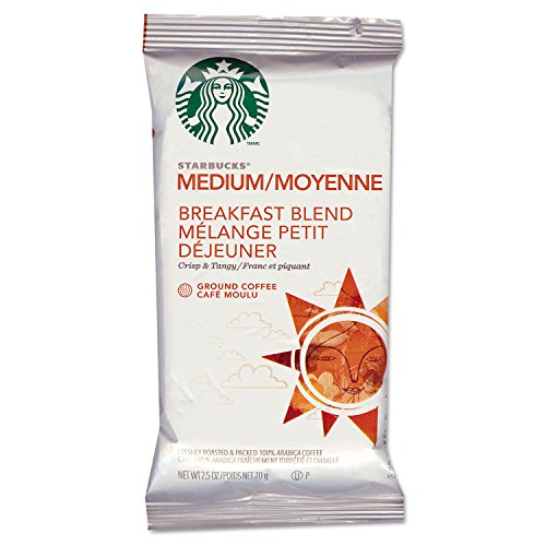 (Starbucks SBK11018193 Breakfast Blend Single-Pot Portions Coffee Packets, Premium Ground, Medium-Roasted (Pack of 18))
