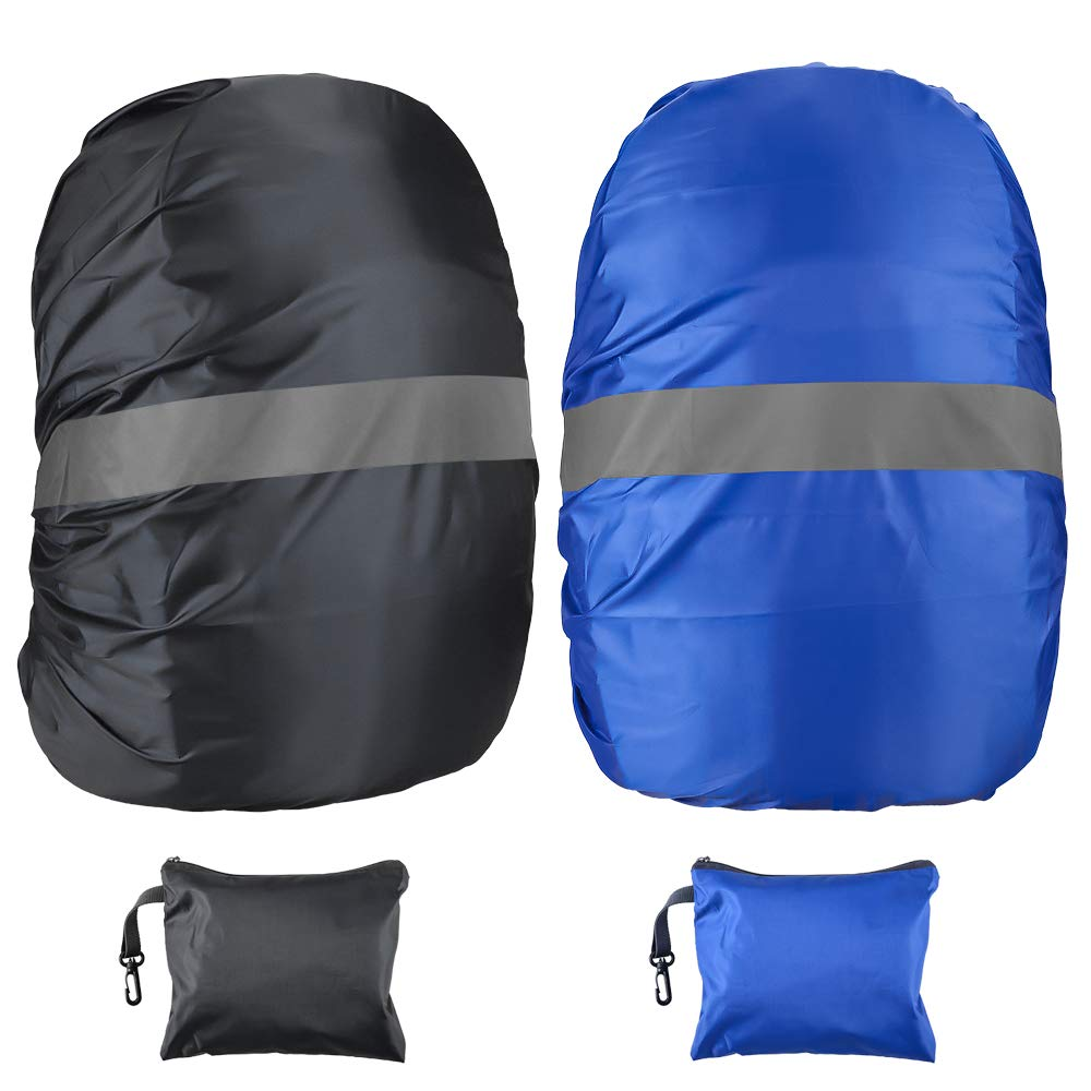 Waterproof Rain Cover for Backpack, Oziral 2 Pack Bag Rain Cover Reflective Rucksack Rain Cover