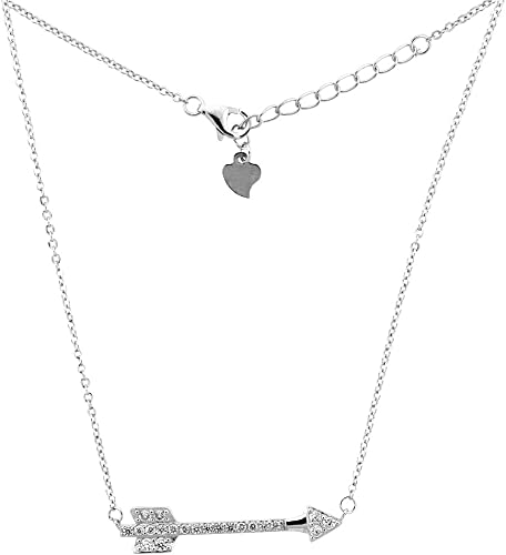 Sterling Silver Womens 1mm Box Chain Pave Cubic Zirconia Filigree Heart Pendant Necklace