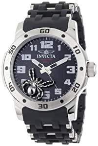 Invicta Men's 1120 Sea Spider Black Dial Black Polyurethane and Stainless Steel Watch