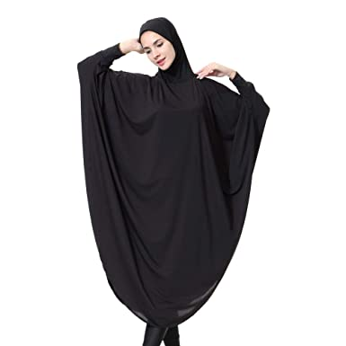 d298b55d89b Amazon.com  Islamic Women Clothing Full Cover Hijab Headscarf Abaya Dress  Muslim Gown Robe - Size XL (Black)  Clothing