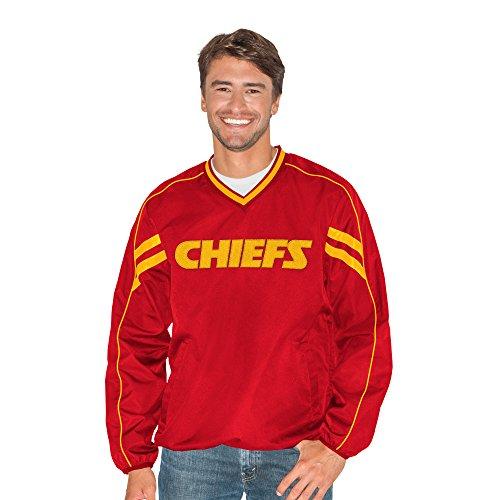 G-III Sports NFL Kansas City Chiefs Adult Men Zone V-Neck Pullover, Medium, Red
