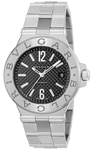 - BVLGARI Diagono Black Dial Automatic Men Watch DG40BSSD
