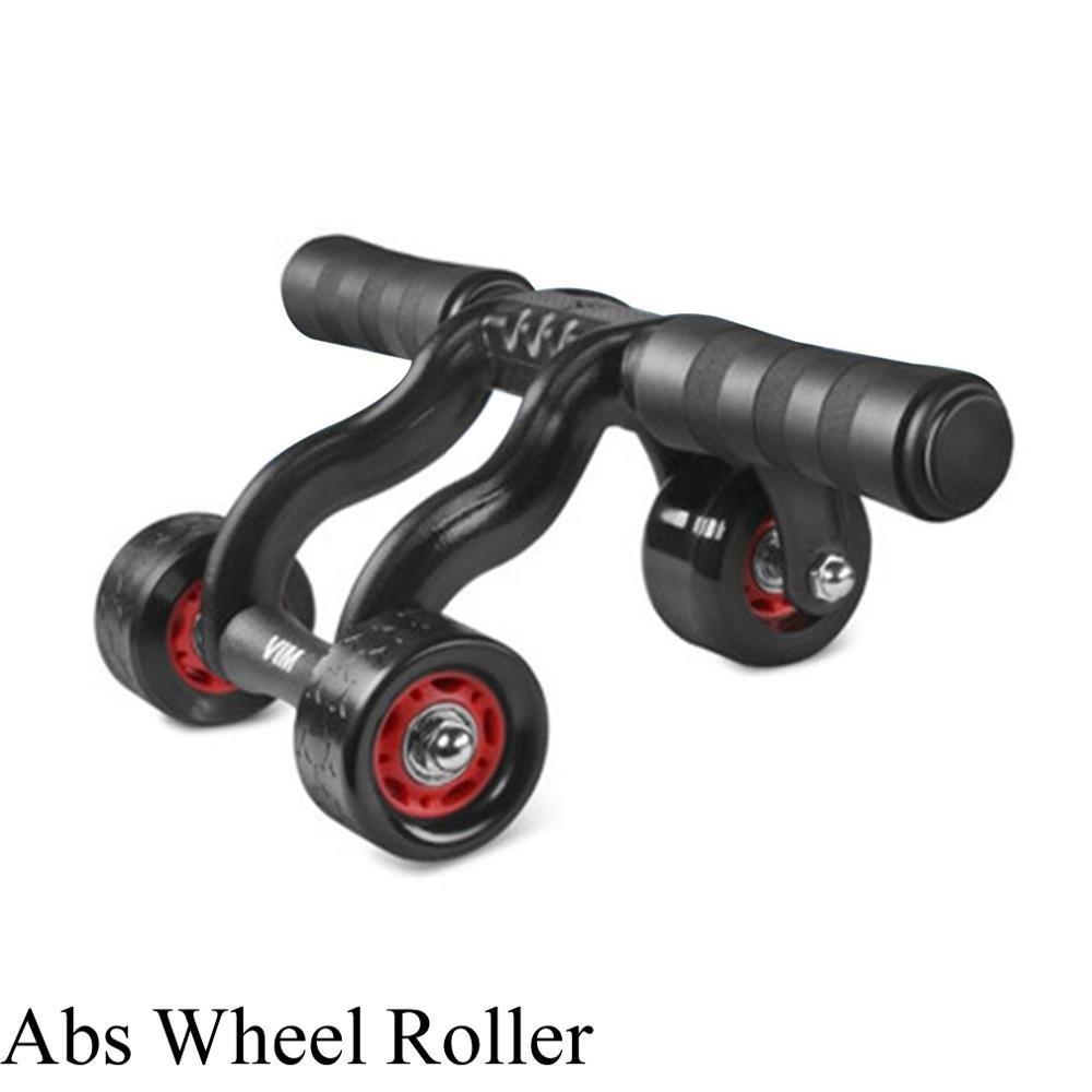 ZHANGYUSEN Rad Fitness Abs-Rad Rolle mit ruhigen Lager Abdominal Workout Muskel Trainingsgerät Fitness Aerobic Trainingsgeräte Schwarz