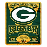 NFL Green Bay Packers Marque Printed Fleece Throw, Green, 50 x 60""
