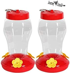 Garden Collection (Bonus BCL Exclusive Garden Fairy) Hanging Hummingbird Feeders use for Water & Nectar (Pack of 2)