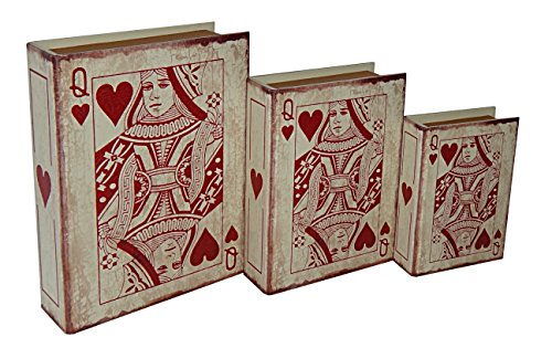 Rattan Chest Treasure (Cheung's FP-3681-3 Vinyl Queen Of Hearts Book Box| Set of 3)