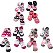 Little Me 12 Pack Bootie Gift Set for Infant Boys & Girls, 0-12 Months