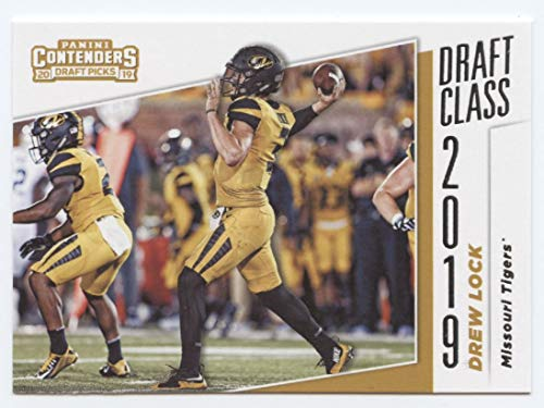 (2019 Panini Contenders Draft Tickets Draft Class #10 Drew Lock Missouri Tigers RC Rookie NCAA Football Trading Card)