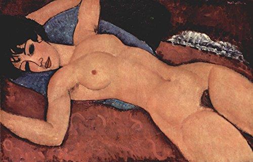 YCC Red Nude, 1917, Amedeo Modigliani Canvas Art Print, Size 24x36, Non-Canvas Poster Print