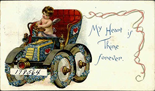 My Heart Is Thine Forever Cupid Original Vintage Postcard ()