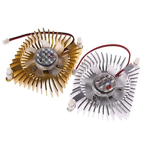 SAUJNN DC 12V 80mm Video Graics VGA Radiator Cards Cooling Fan 2Pins Mounting Hole Fan for PC July Drop Ship