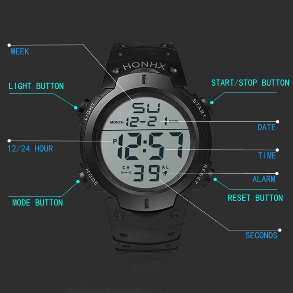 CRAZYON orologio elettronico moda unisex orologio da polso elettronico casual orologi impermeabili digitali