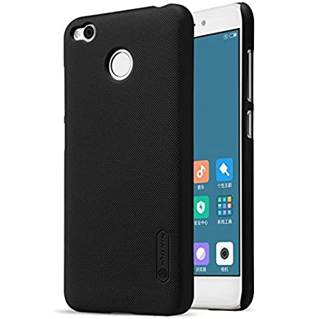 Nillkin Frosted Hard Back Case Cover + Screenguard for Xiaomi Redmi 4   Black Cases   Covers