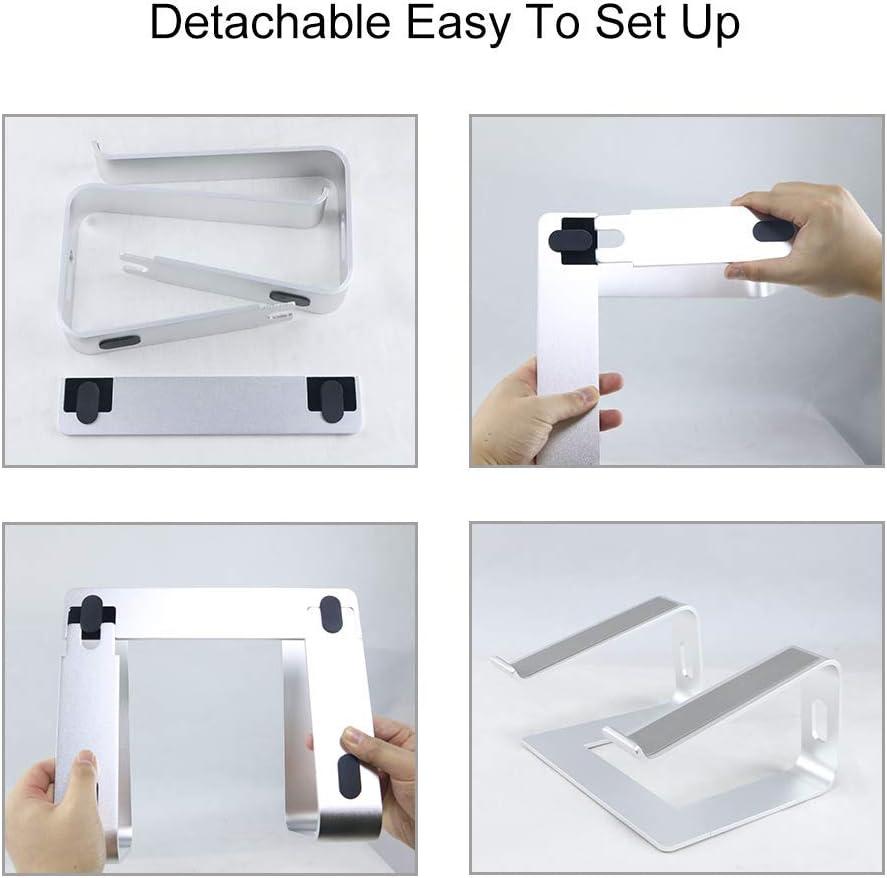 KOAOYO Support pour Ordinateur Portable en Aluminium Compatible avec Mac MacBook Pro Air Notebook Support Ergonomique élévateur en métal pour