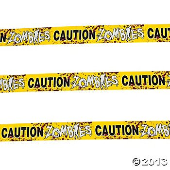 Zombie Caution Tape - 20 Feet x 3