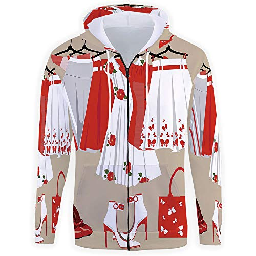 iPrint Men Zipper Hoodie,Heels and Dresses with Kanga for sale  Delivered anywhere in USA