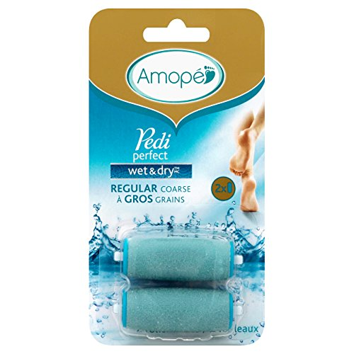 Amope Pedi Perfect Wet & Dry Rechargeable Foot File Refills, 2 Count, Regular Coarse