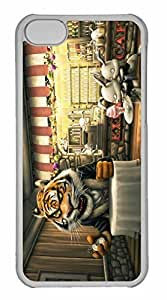 iPhone 5C Case, Personalized Custom Tiger Painting 2 for iPhone 5C PC Clear Case