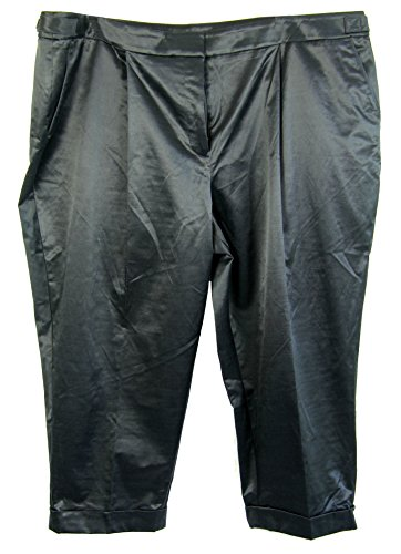 Jones New York Women's Plus Size Slim Leg Cuffed Pants 22w Petite Midnight