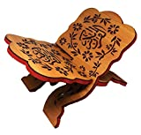 Holy Quran Book Stand Wooden Carved Rihal Folding Display Bible Magazine Holder Islam Gift