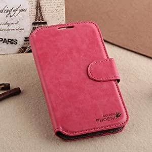 ZL Retro Style Nubuck PU Leather Wallet with Stand Card Slot Case for Samsung Galaxy S3/I9300 (Assorted Colors) , Rose