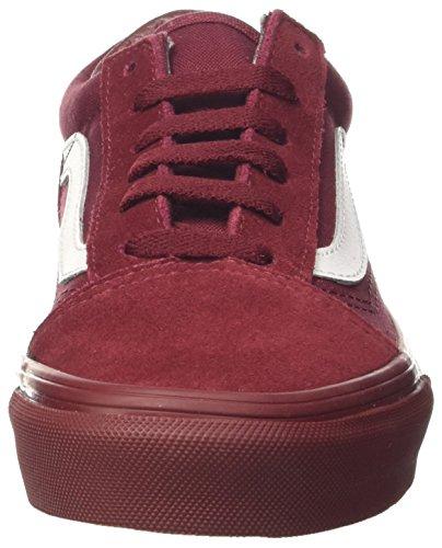 Vans Old Skool, Zapatillas Unisex Niños Rojo (Mono Bumper)
