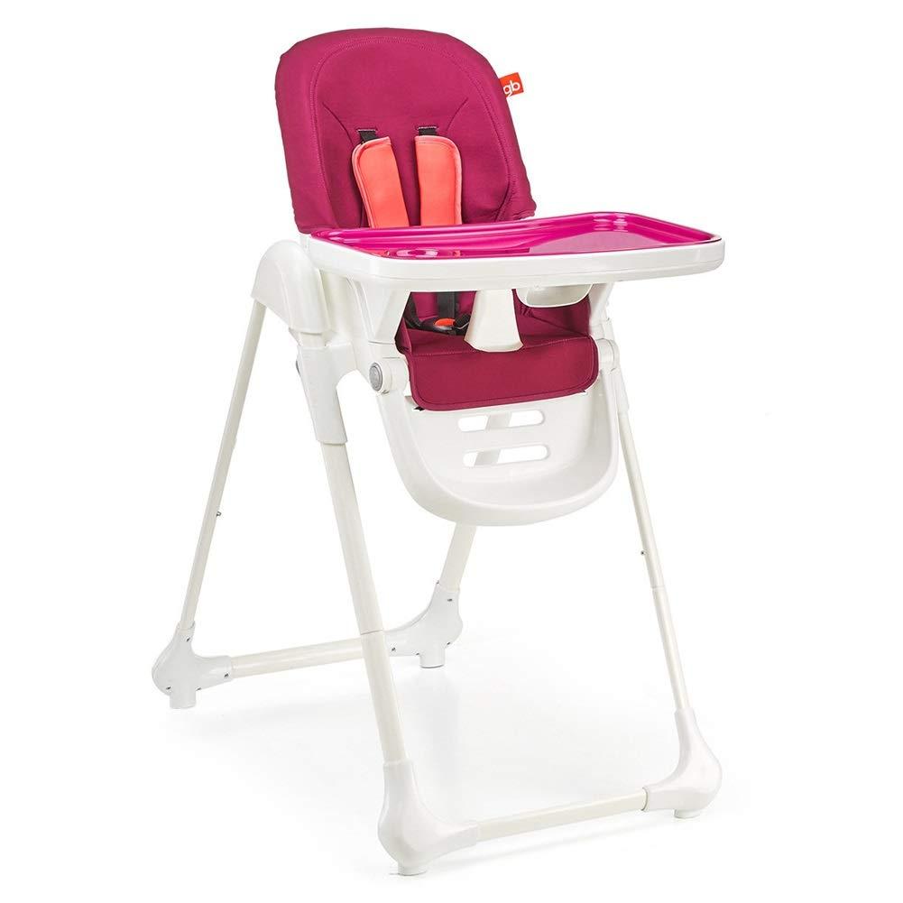 LXLA - 幼児/幼児の食事のための調節可能な赤ん坊の高い椅子及びブースターの供給の座席 - クッションおよび皿との折る (色 : Red)  Red B07NSXQ5TG