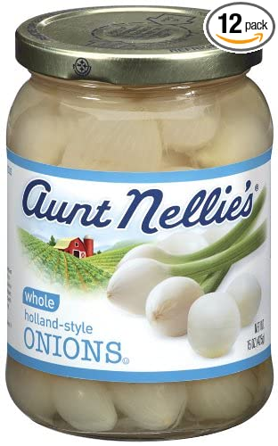 b0d2c5afabe4 Aunt Nellie's Whole Onions, 15-Ounce Jars (Pack of 12)