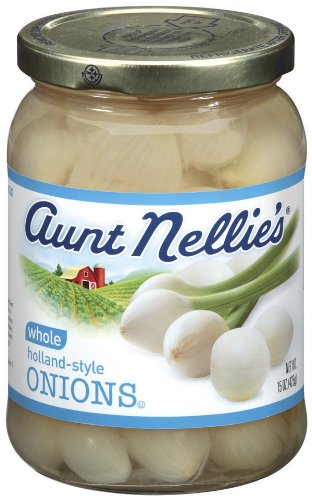 Aunt Nellie's Whole Onions, 15-Ounce Jars (Pack of 12) (Jar Onions)